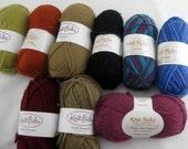Lot 9 Skeins Vintage Knit Pick Wool and Blend Yarn Various Colors