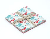 SALE 5 inch charm pack squares fabric SHABBY STRAWBERRY by Riley Blake from Emily Hughes