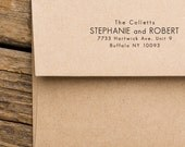 Address Stamp - Custom Address Stamp - Address Stamp Modern - Return Address Stamp - Housewarming Gift - Stephanie and Robert