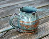 Elvish Mug in Slate Blue- Made to Order