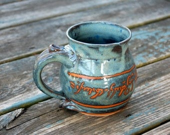 Elvish Mug in Slate Blue- Made to Order