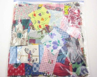 Huge Bag of Assorted Fabric Scraps Pieces or Material Lot B