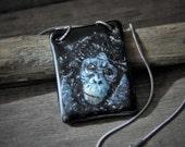 Gorilla  -  fused glass pendant