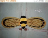 Bumble Bee Wings, Halloween Costume Pixie Sunshine Yellow Wings,  Wings, Glitter, Pixie Costume, Bug Costume, Insect