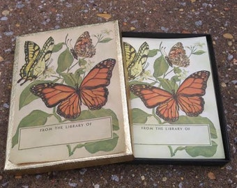 Vintage Butterfly Bookplates - Antioch Bookplate Company