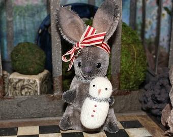 Frost a OOAK mohair artist bunny