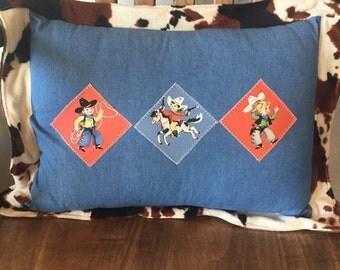 Retro Cowboys Pillow