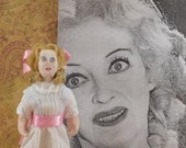 Bette Davis as Baby Jane-  Dark Theme- Creepy Movie- Fan Art- Miniature Doll