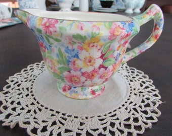 VINTAGE - From England - James Kent Chintz Creamer - Apple Blossom