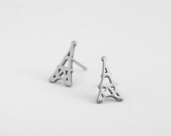 Eiffel Tower Stainless Steel Stud Earring Post Finding (E37591)