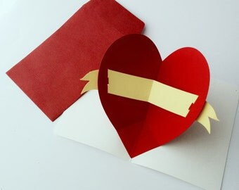 Heart POP UP Greeting Card