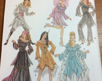 Simplicity 5363 Costume Sewing Pattern Sizes 6-8-10-12 Elaine Heigl Designs Fairy Fantasy Costumes Pirate Wench
