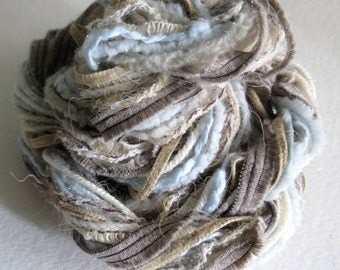 Fibers Lot - Dreamcatcher - Craft Supplies - Knitting - Crochet - Yarn Lot - Craft Supplies -Altered Art - Pocket Letter Supplies