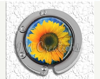 60% OFF CLEARANCE Foldable Bag Purse Hook - Pretty Sunflower FHK116