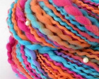 Handspun Yarn -  Merino Yarn - Freshwater Pearls - 1.75oz, 100yd, 13WPI