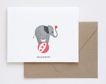 Splendid Elephant Note Card