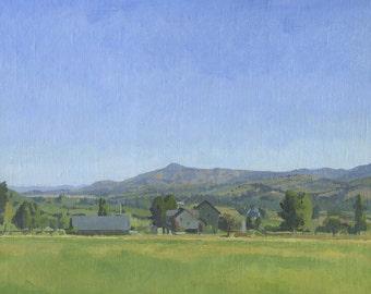 Original Oil Painting: Roxy Ann from Talent, Oregon