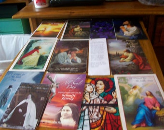 lot of 13 religious cards images craft supplies all souls
