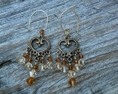 Topaz Swarovski Crystal Chandelier Earrings