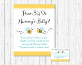 Bumble Bee How Big Is Mommy's Belly Game / Bumble Bee Baby Shower / Bee Baby Shower / Baby Boy / Belly Guessing Game / INSTANT DOWNLOAD