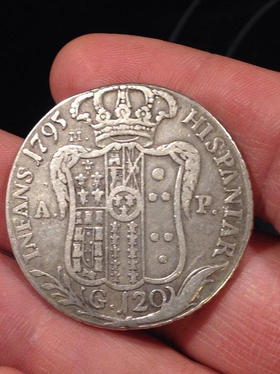 1795 Sicilian Silver 120 Grana - Italian States Coin