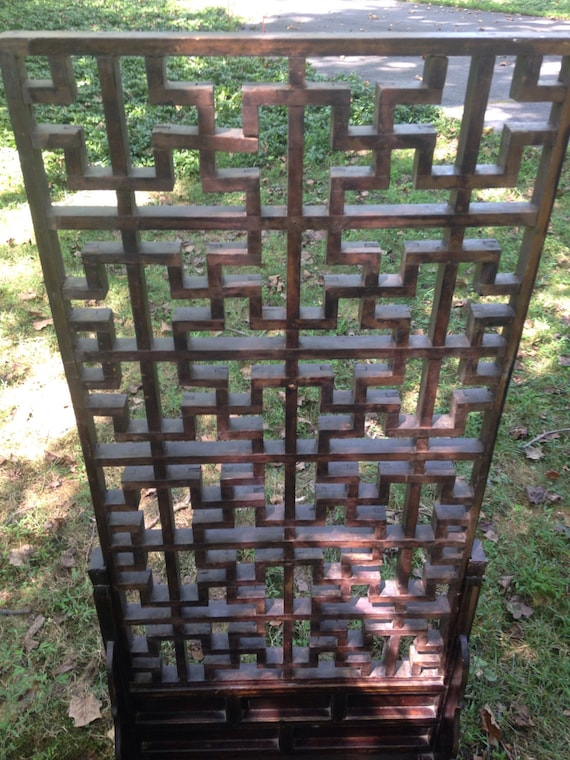 Antique Chinese Standing Screen or Room Divider