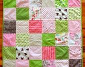 Patchwork Baby Quilt, Modern Baby, Minky Blanket, Toddler, Child