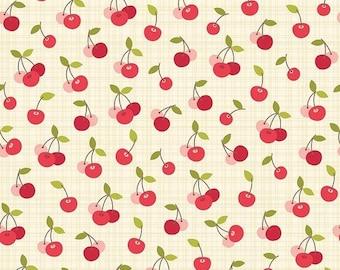 25% OFF Farm Girl Cherry Pie Cream - 1/2 Yard