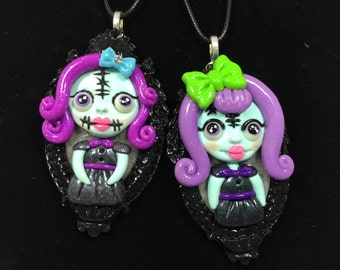 Purple Spooky Girls Necklaces
