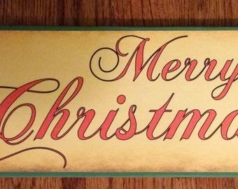 Merry Christmas Sign, Christmas Sign, Christmas Decor, Holly, Winter Decor, Winter Sign, Holly Sign, Holly Berries