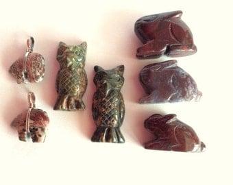 Jasper Animal Beads, Jasper Focal Beads