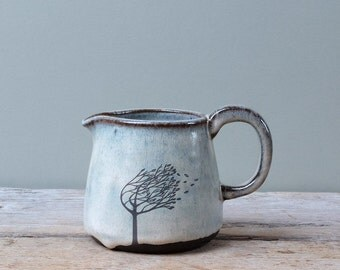 Small Grey Windy Tree Jug