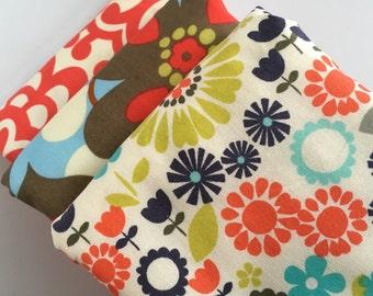 Amy Butler Wallflower Baby Burp Cloth Set (3)