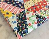 Vintage Patchwork Quilt Fabric   Vintage Fabrics   Zakka Style