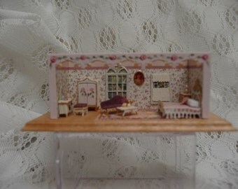 Beautiful 1/144th Scale Pink Lady's Bedroom