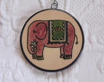 elephant ornament . jerusalem xmas ornament . hand painted ceramic ornament . elephant ornament . jerusalem old city
