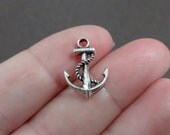 10, Anchor, Rope, Ship, Boat, Charms 17x12.5x3mm, Hole: 2mm
