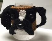 Crochet // Boxer //  Dog //  Coffee Cozy //  Crochet // Handmade