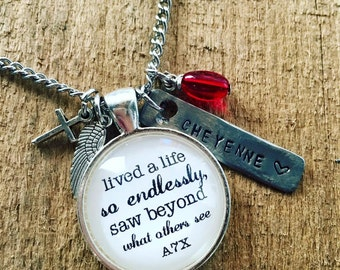 Tribute Keychain or Necklace