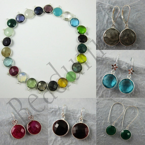 jewelry making kit gemstone pendant and earwire earring
