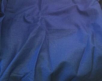 100% LINEN Fabric - PERIWINKLE BLUE - 1 Yard