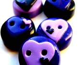 Ready to Ship Purple hearts 5 3/4""