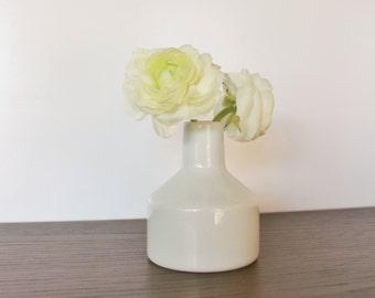 Vintage white porcelain bud vase, Bavaria