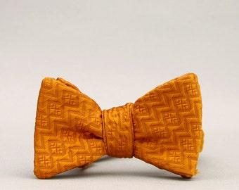 marigold bow tie //  self tie bow tie  //  unisex bow tie