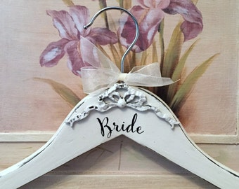 Wedding Gown Hanger, Dress Hangers, Bridesmaid Hanger, Personalized Hangers, Bride and Groom, Mr. and Mrs.