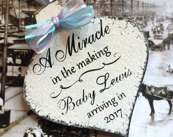 CHRISTMAS ORNAMENT, New Baby Ornaments, Pregnancy Ornament, Personalized Christmas Ornament, 3 1/4 x 5