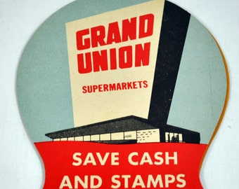 Vintage NEEDLE Booklet Card Grocery Giveaway GRAND UNION Supermarkets