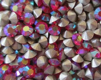 48 pp24 Light Siam ab Swarovski Light Siam AB Swarovski Art 1028 Xilion lt Siam AB Chatons 3.2mm Rhinestones 3mm Light Siam ab 3mm