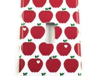 Red Apple Light Switch Cover  Wall Decor Switch Plate Switchplate in  Delicious  (091S)