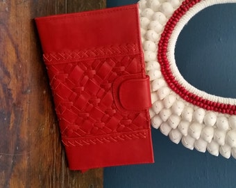 Leather Woven Purse